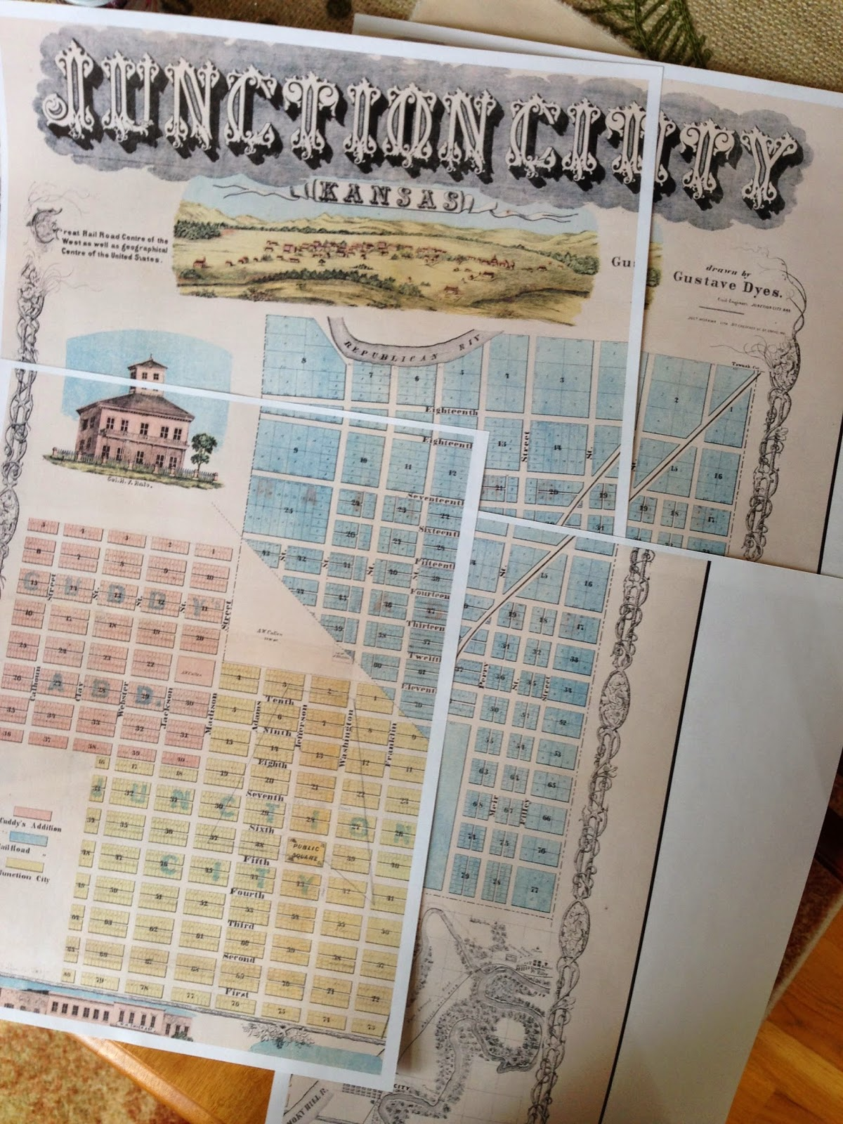 Deborah\'s Journal: The Printed Fabric Bee: Old World Maps
