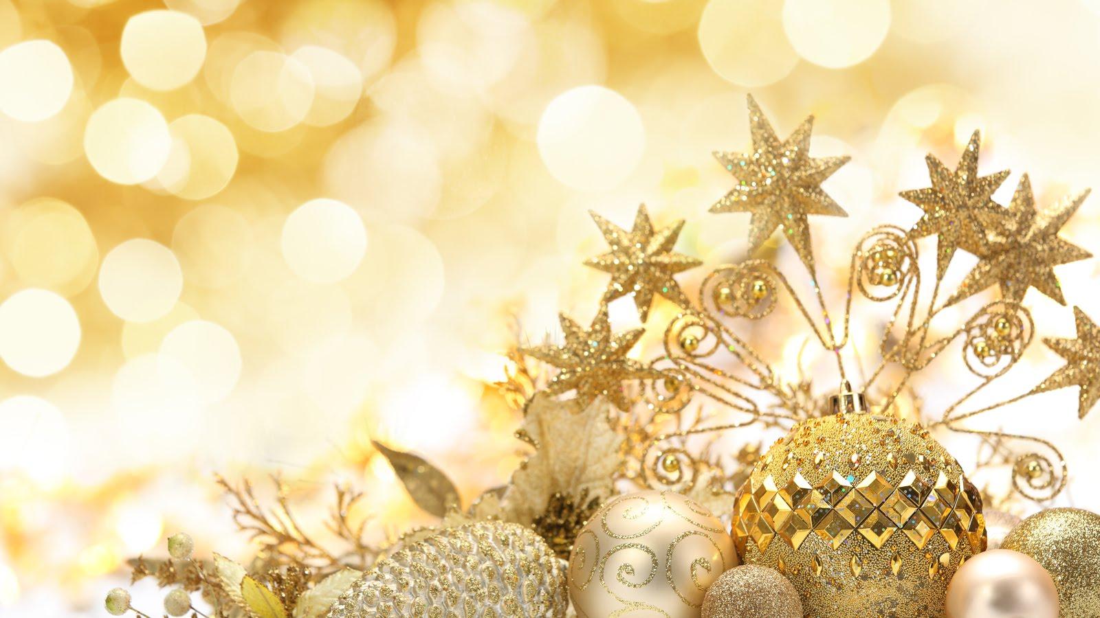 Lindas esferas de navidad color doradas con estrellas - Bolas de navidad doradas ...