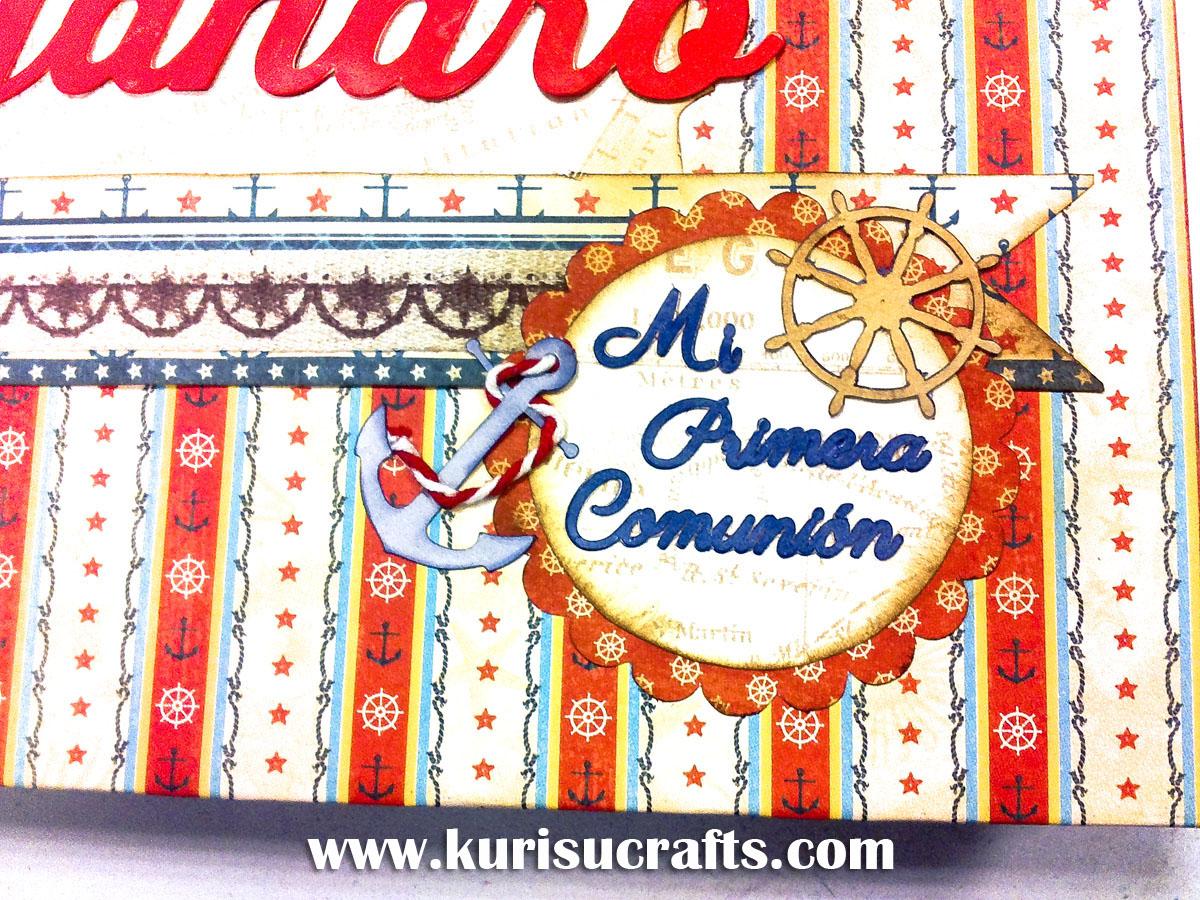 Taller álbum de comunión personalizado en Kurisu Crafts