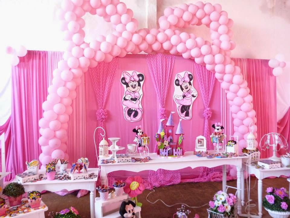 ideas para decoracin de cumpleaos minnie rosa