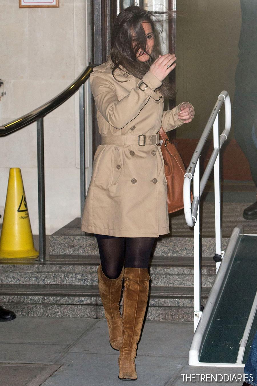Pippa Middleton at King Edward VII Hospital in London ...