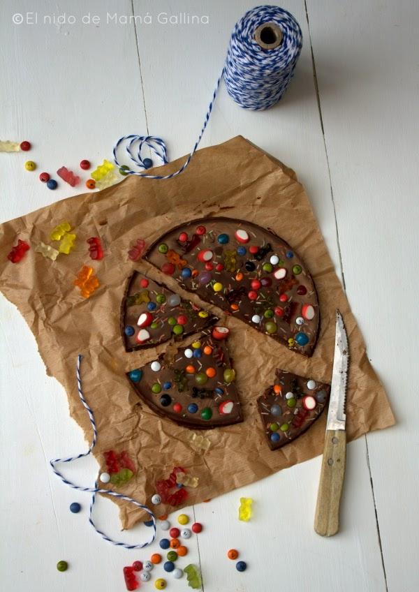 jellies chocolate pizza