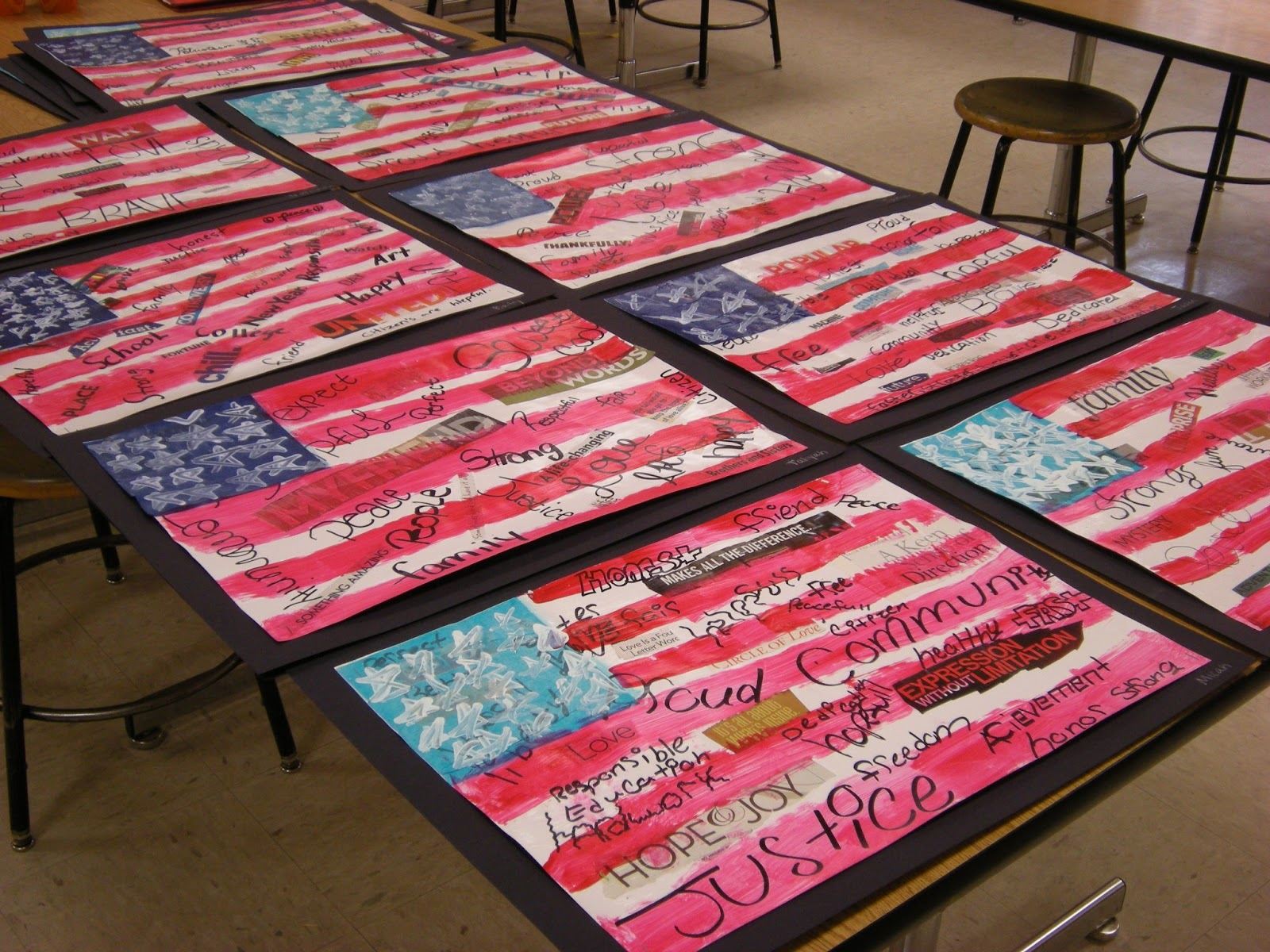 what u0027s happening in the art room 5th grade american flags