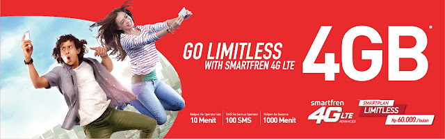 Smartfren Let's Go Limitless, and just Go for It