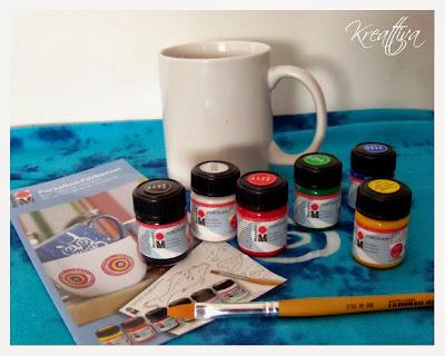 set colori per porcellana