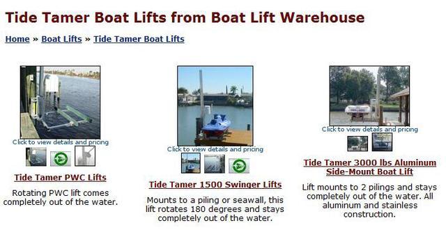 Tide Tamer 1500 lbs PWC Lift