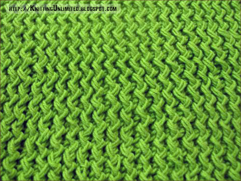 The Zig Zag knitting stitch is really an easy stitch to master and is a great way to add subdued texture for sweaters, skirts, hats