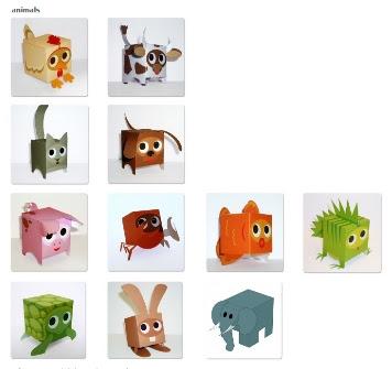 Коробочки животные