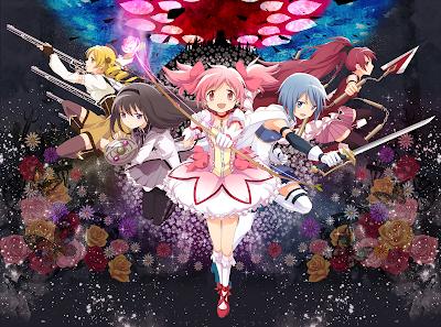Madoka_Kaname Homura_Akemi Sayaka_Miki Mami_Tomoe Kyoko_Sakura Puelli_Magi_Madoka_Magica Game Anime Girl Battle_Pentagram