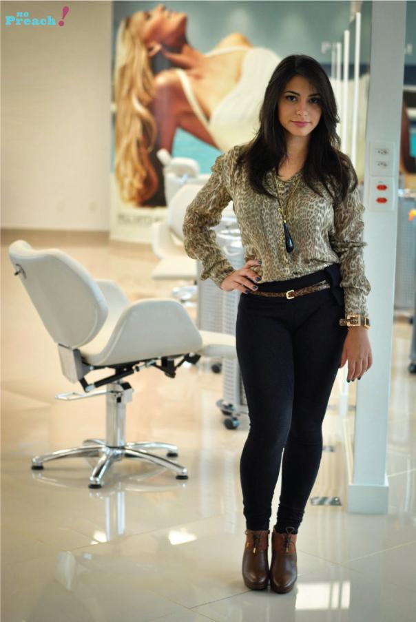 Bárbara Urias - corte de cabelo desfiado em camadas - look