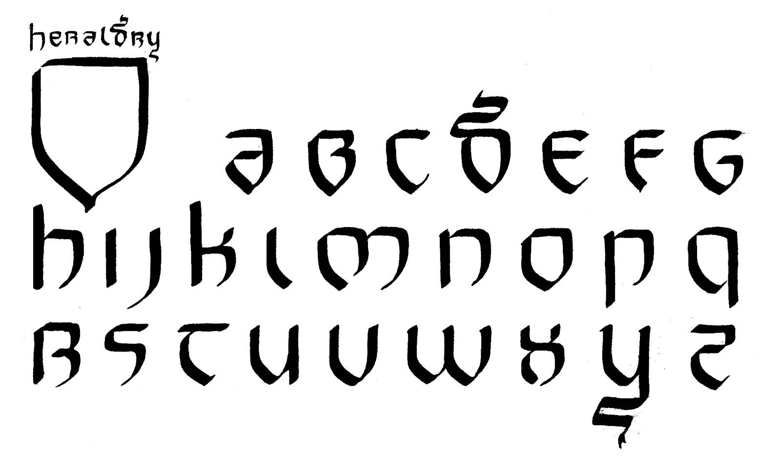 Margaret Shepherd Calligraphy Blog 160 Heraldry Basic: calligraphy basics