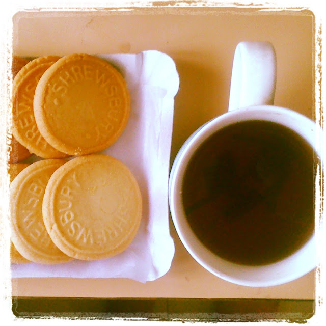 Shrewsbury biscuits and black tea
