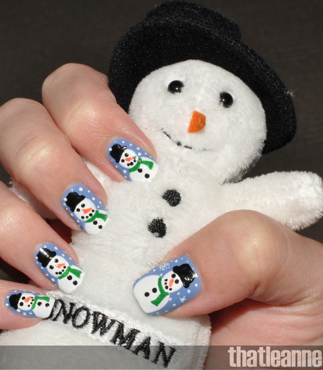 Thatleanne snowman nail art how to for a road trip so i thought id post my latest holiday nails snow men oh and share a picture of my latest pandora bracelet i got a snowman charm d prinsesfo Images
