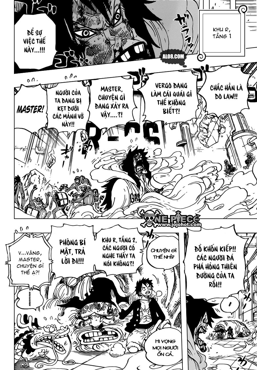 One Piece Chapter 691: Vị vua của vùng đất chết 008