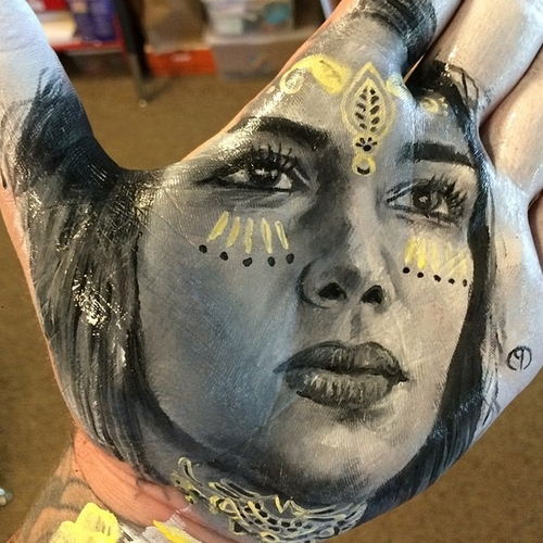 21-Russell-Powell-Hand-Body-Painting-Transferred-to-Paper-www-designstack-co