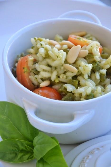 insalata di riso acquerello alla ligure