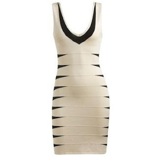 Bandage Dress on Bandage Dress Black White