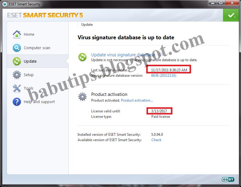 eset nod32 serial key daily update