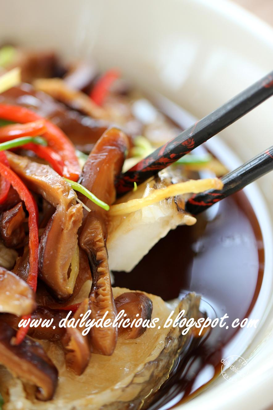 Dailydelicious happy cooking with lg solardom steamed for Soy sauce fish