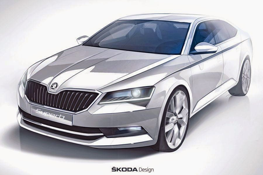 Skoda Superb Hatchback (2016 Rendering) Front Side