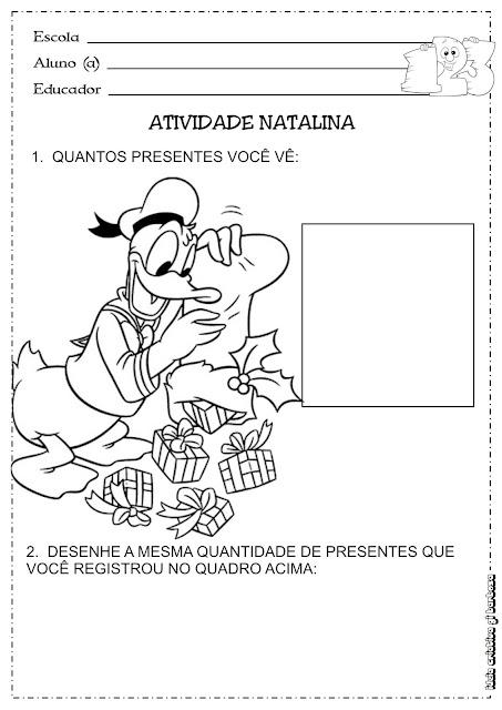 Atividade Natalina Matemática