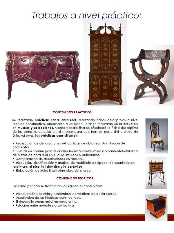 Nuevo Curso De Historia Del Mueble Occidental Historia Del Mueble Espanol
