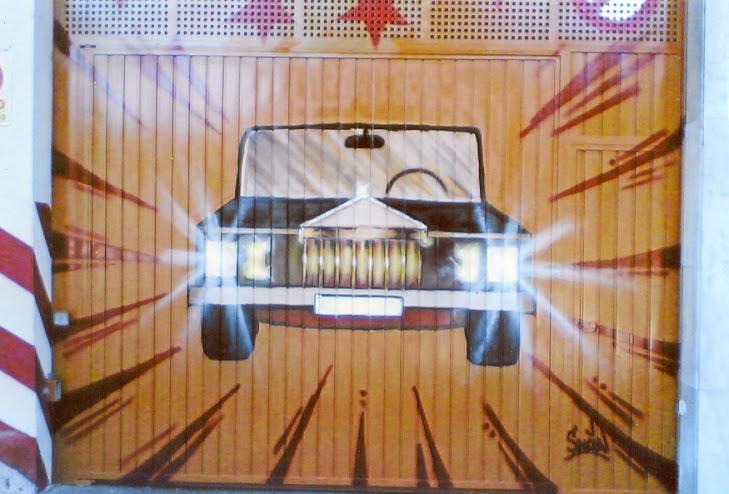 garaje porton coche