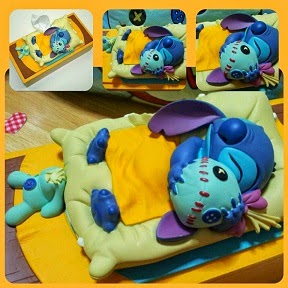 RARE Japan Bedtime Stitch Hugging Scrump Figure Box