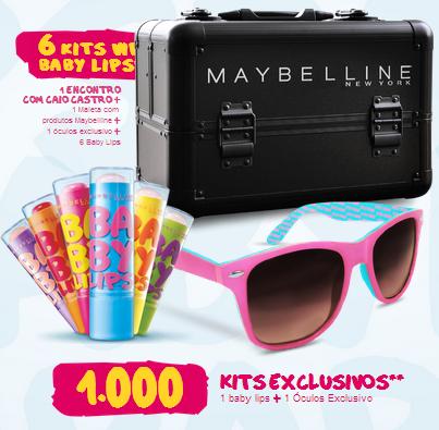 """Promoção Maybelline - """"Baby Lips"""""""