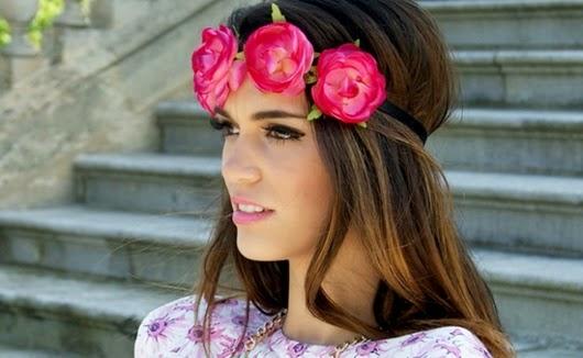 Blumenkrone Frisur