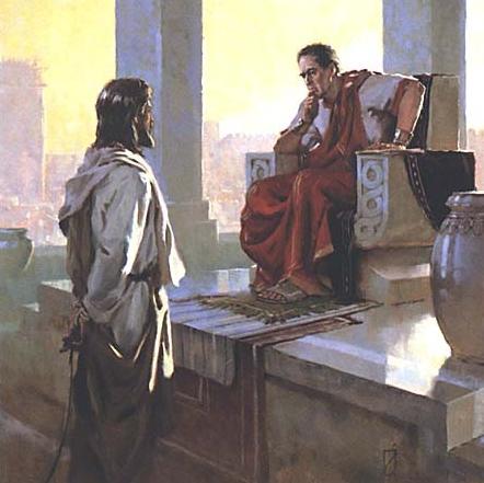 MÉDITATIONS CHRÉTIENNES POUR TOUTE L`ANNÉE - Pere Buse`e - Cie de Jésus - année 1708 Gesu%CC%80+e+Pilato