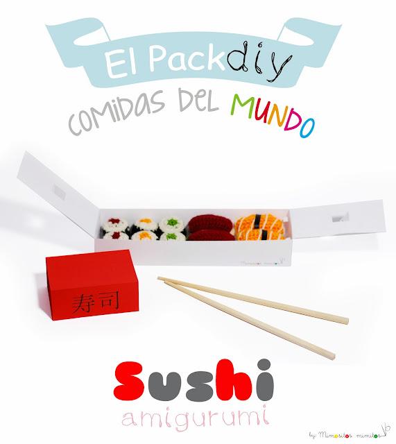 kit DIY sushi pack amigurumi diy handmade manualidades craftbox