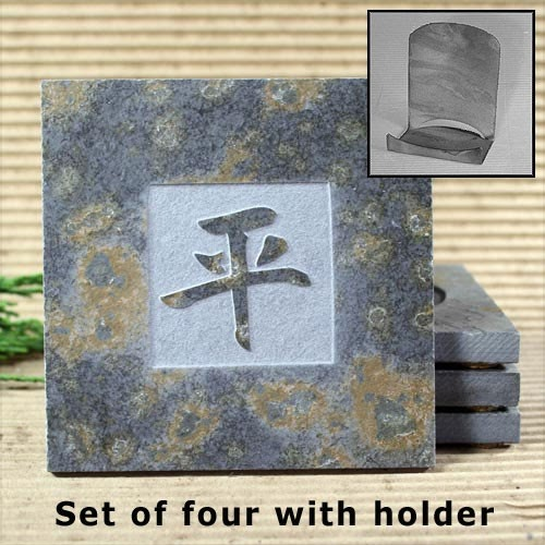 http://www.etsy.com/nz/listing/63776545/kanji-peace-real-etched-slate-coaster