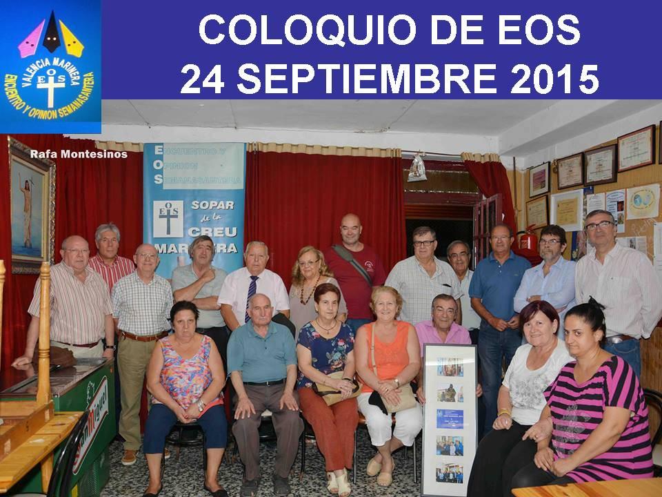 COLOQUIO 24 DE SEPTIEMBRE 2015 EN SHEMYRS