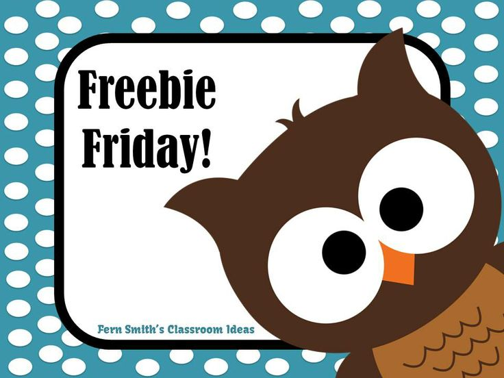 Fern Smith's Classroom Ideas Freebie Friday Resources at TeacherspayTeachers Pinterest Board.