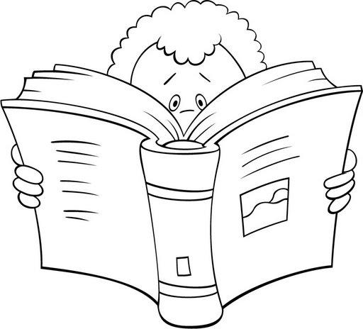 Niños leyendo un cuento para colorear - Imagui