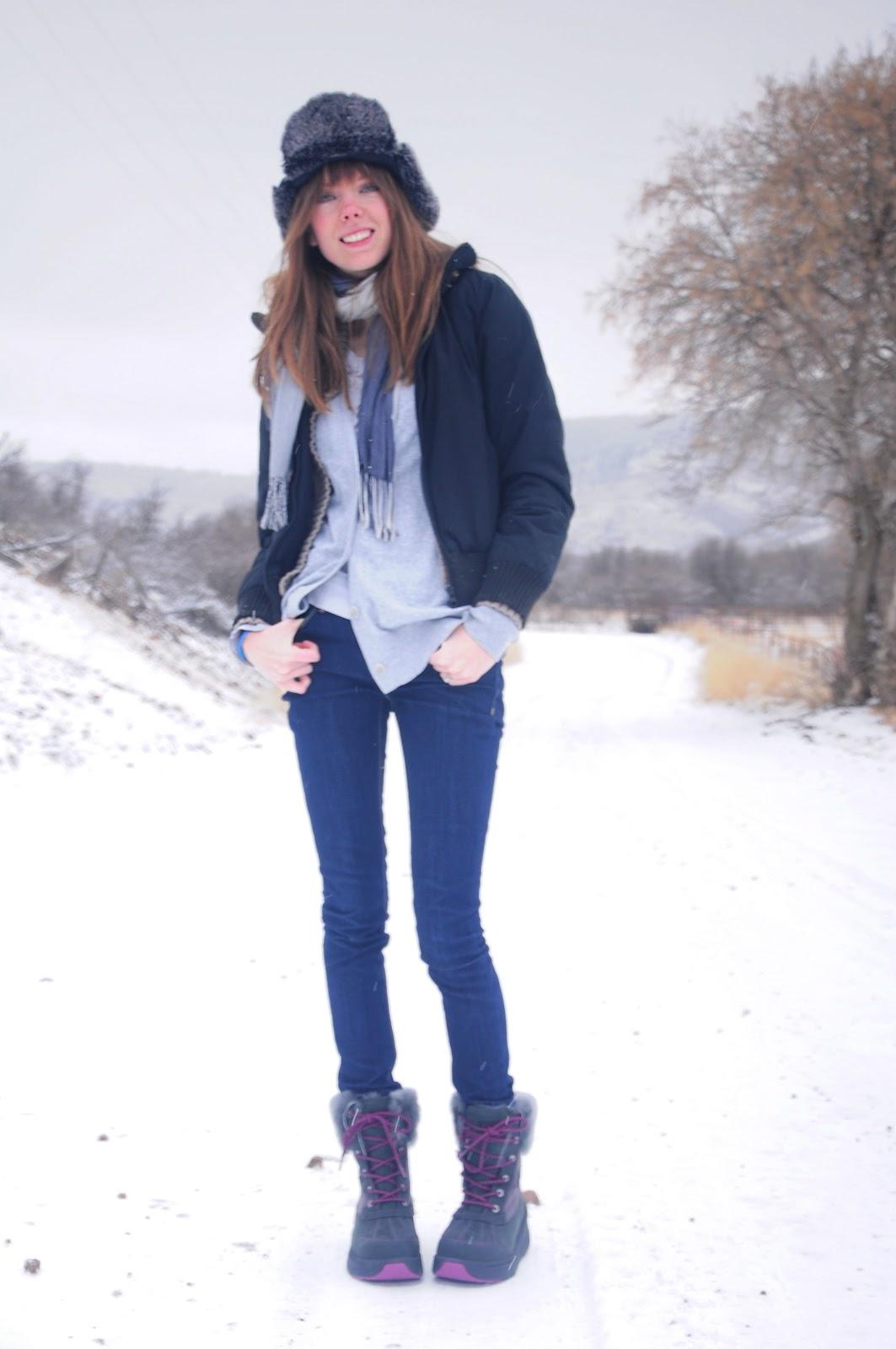 Winter hiking wear