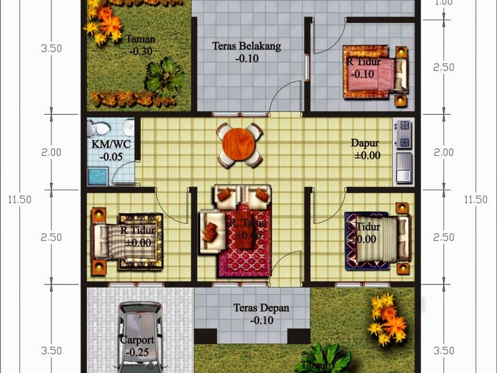 Desain Rumah Minimalis 2 Kamar Tidur