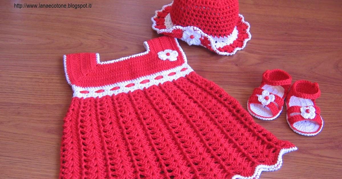 Lana e cotone maglia e uncinetto vestitino all 39 uncinetto for Immagini uncinetto
