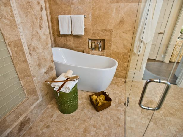 Modern furniture master bathroom pictures hgtv smart for Master bathrooms without bathtubs