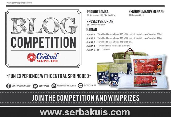 Kontes Blog Berhadiah Produk dari Central Springbed