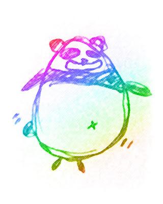 Rainbow Panda
