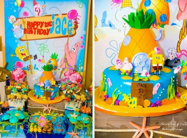 tema festa menino infantil aniversário bob esponja