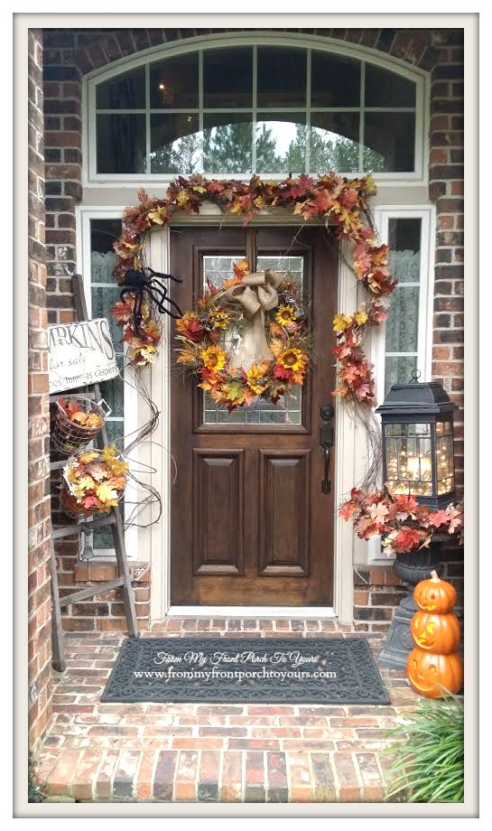 Terrific Fall Swags For Front Door Ideas   Exterior Ideas 3D   Gaml .