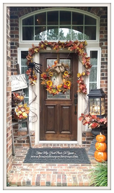 Fall Door Swag-Fall Front Porch- From My Front Porch To Yours