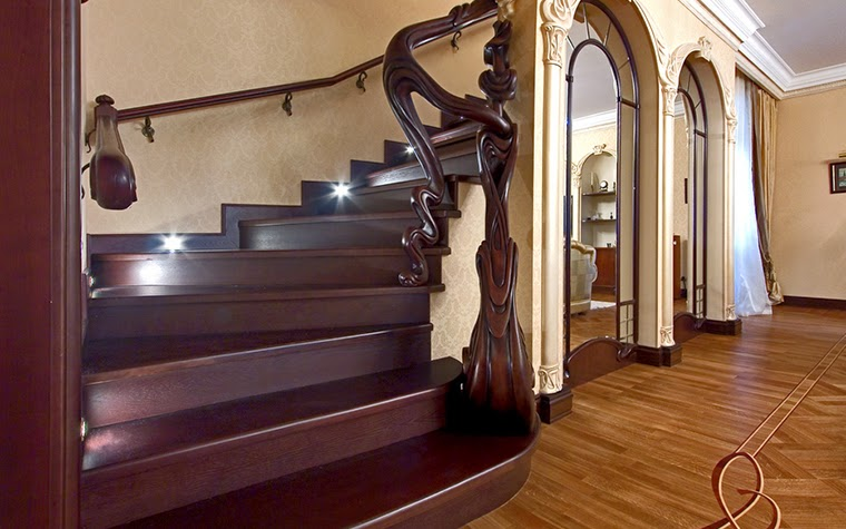 oak stairs design