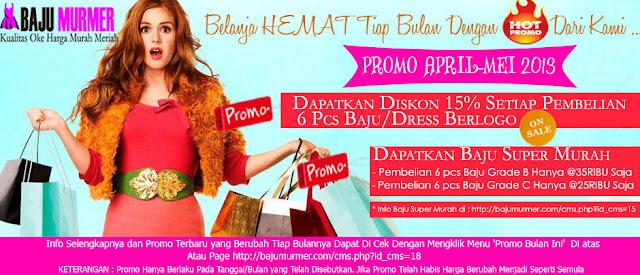 Promo Bajumurmer.com Toko Baju Online Jual Baju Grosir Murah Reseller Dress Gamis