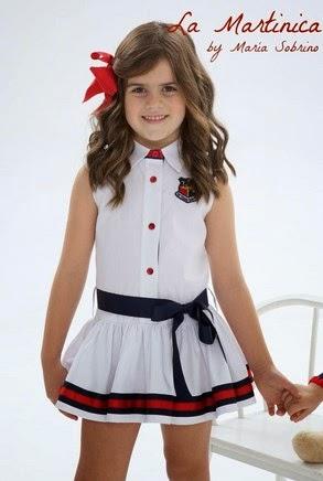 vestido marinero para niña de La Martinica moda infantil