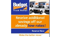 Moving? Save 10-15% off one-way and local moves. Save now with Budget Truck Rentals!