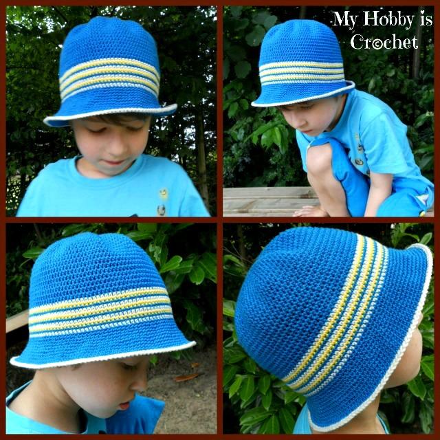 My Hobby Is Crochet Crochet Cotton Sun Hat For Children Ocean And